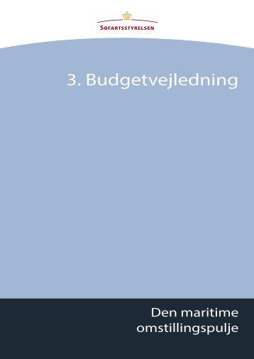 3. Budgetvejledning - Søfartsstyrelsen