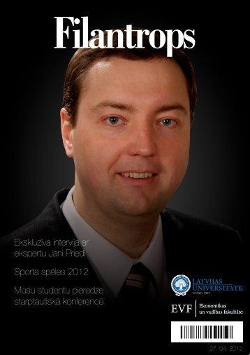 Filantrops - EVF - Latvijas Universitāte