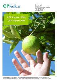 CSR i publisher, på dansk og engelsk - CP Kelco