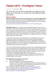 Her finner du informasjon om kampanjen. - Røde Kors