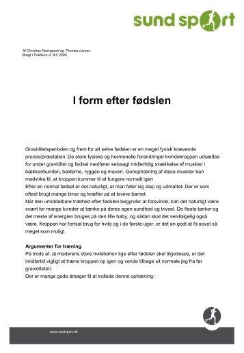 I form efter fødsel - SundSport.dk