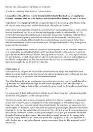 Interview med Lotte Andersen | Beretninger om overlevelse Af ...