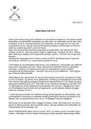 Formandens beretning - Artilleriofficersforeningen