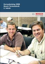 Kursuskatalog 2008 Bosch Termoteknik 2. halvår - Buderus