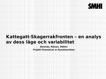Kattegatt-Skagerrakfronten – en analys av dess läge och variabilitet