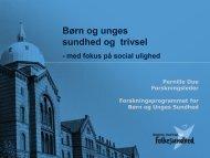 Børn og unges sundhed og trivsel - Nordjysksundhed.dk