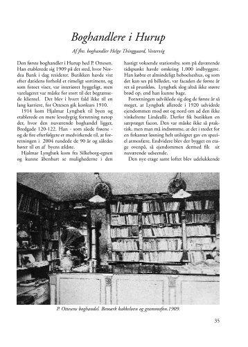 Boghandlere i Hurup af fhv. boghandler Helge Thinggaard, Vestervig