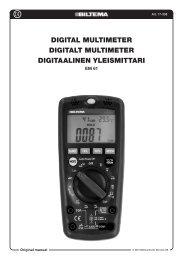 Digital multimeter Digitalt multimeter Digitaalinen yleismittari - Biltema
