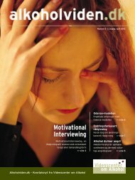 Videnscenter om Alkohol Motivational Interviewing - Servicestyrelsen