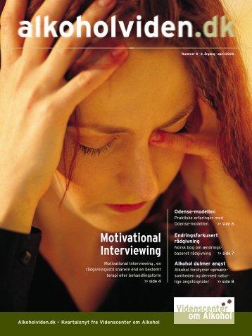 Videnscenter om Alkohol Motivational Interviewing - Servicestyrelsen
