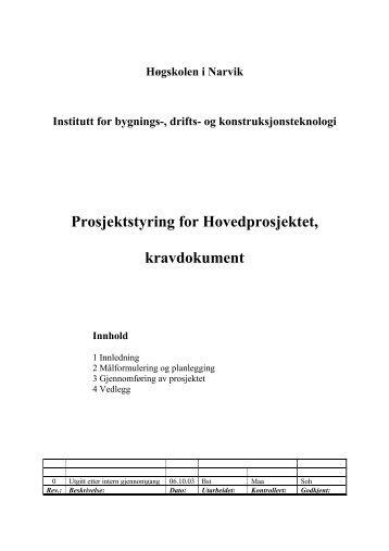 Kravdokument - Høgskolen i Narvik