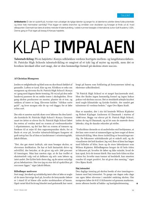 Læs artikel - Talent DK