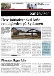 Flere initiativer skal løfte rettidigheden på Sydbanen - Banedanmark