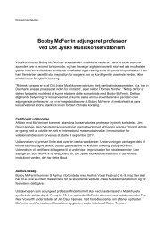 Bobby McFerrin adjungeret professor ved Det Jyske ... - musikkons.dk