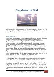 Tekst/PDF Sannheter om Gud - Nettbibelskolen