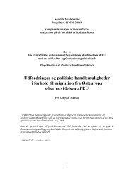 Udfordringer og politiske handlemuligheder i forhold til migration ...
