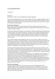 Svar på spørgsmål til artikel v/Tage Buch Kære Hans ... - Nyimpuls.dk