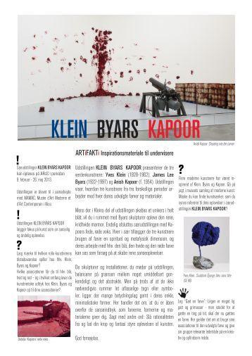 KLEIN BYARS KAPOOR - Aros
