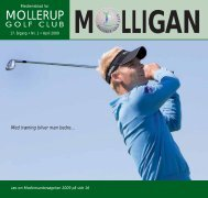 MOLLIGAN, april 2009 - Mollerup Golf Club