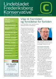 Lindebladet Frederiksberg Konservative - Københavns Storkreds