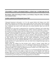 vestimulation, hyperstimulation og uterusruptur - DSOG
