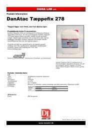 DanAtac Tæppefix 278 - Dana Lim A/S