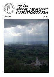 Juni 2008 nr. 59 Fra La Verna - Assisi-Kredsen