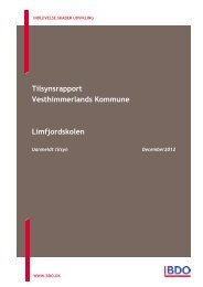 Tilsynsrapport Vesthimmerlands Kommune ... - limfjordsskolen.dk