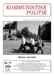 Kommunistisk Politik 11, 2004