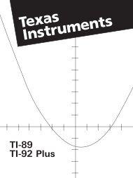 TI-89 Dansk Manual - sorenr.dk