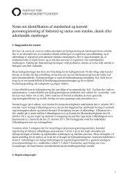 Udkast til notat om identifikation af statsløshed og korrekt ...