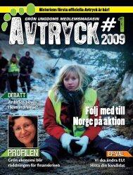 Avtryck nr 1 årgång 2009 - Get a Free Blog