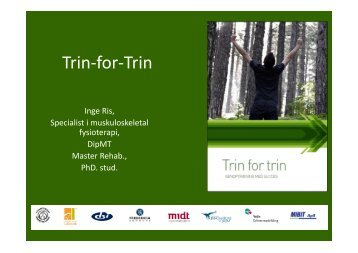 Trin for Trin fyraftensmøde - Fysioterapi og smerteklinik