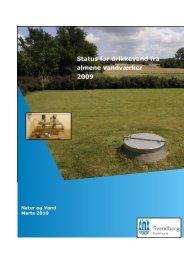Status for drikkevand fra almene vandværker 2009 - Svendborg ...