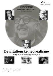 Den italienske neorealisme - Når film vil nærme ... - Stefan Pellegrini