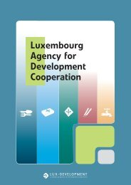 Luxembourg Agency for Development ... - Lux-Development