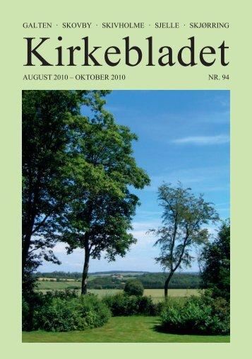 Kirkebladet for august-oktober 2010 - Skivholme Kirke