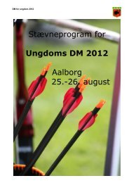 Stævneprogram for Ungdoms DM 2012 Aalborg 25.-26. august