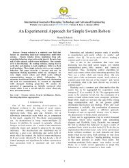 An Experimental Approach for Simple Swarm Robots - IJETAE