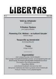 Vold og rettigheder Frihedens Tænkere Flemming Chr ... - Libertas