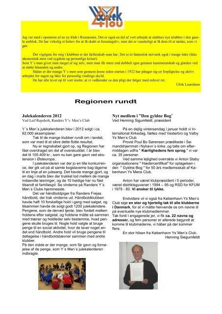 Tak for et godt klubår 2012 - 2013 - Odense Y's Men's Club