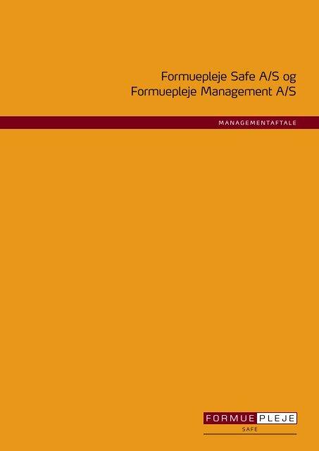 Aftale om management - Formuepleje Safe