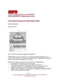 Vedligeholdelse af bindingsværk - Center for Bygningsbevaring