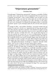 """Erkjennelsens grensesteder"""" * - Antroposofisk Selskap i Norge"""