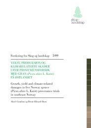 Forskning fra Skog og landskap VekSt, produkSjon og klimarelaterte ...