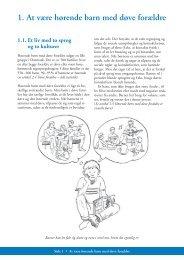 1. At være hørende barn med døve forældre - Helseetaten