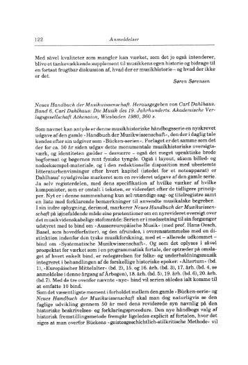 Carl Dahlhaus, Neues Handbuch der Musikwissenschaft ... - dym.dk