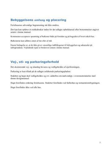 Design Manual side 7 - Ejerlejlighedsforeningen Vestre Strand 2 ...