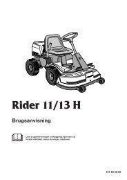 OM, Rider 11, Rider 13 H, 1999-12 - Husqvarna