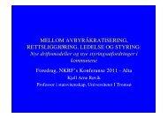 nye styringsutfordringer - NKRF